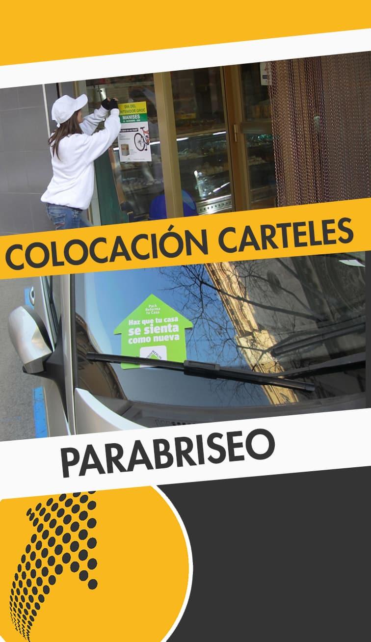 servicios de colocación de carteles y parabriseo Teruel