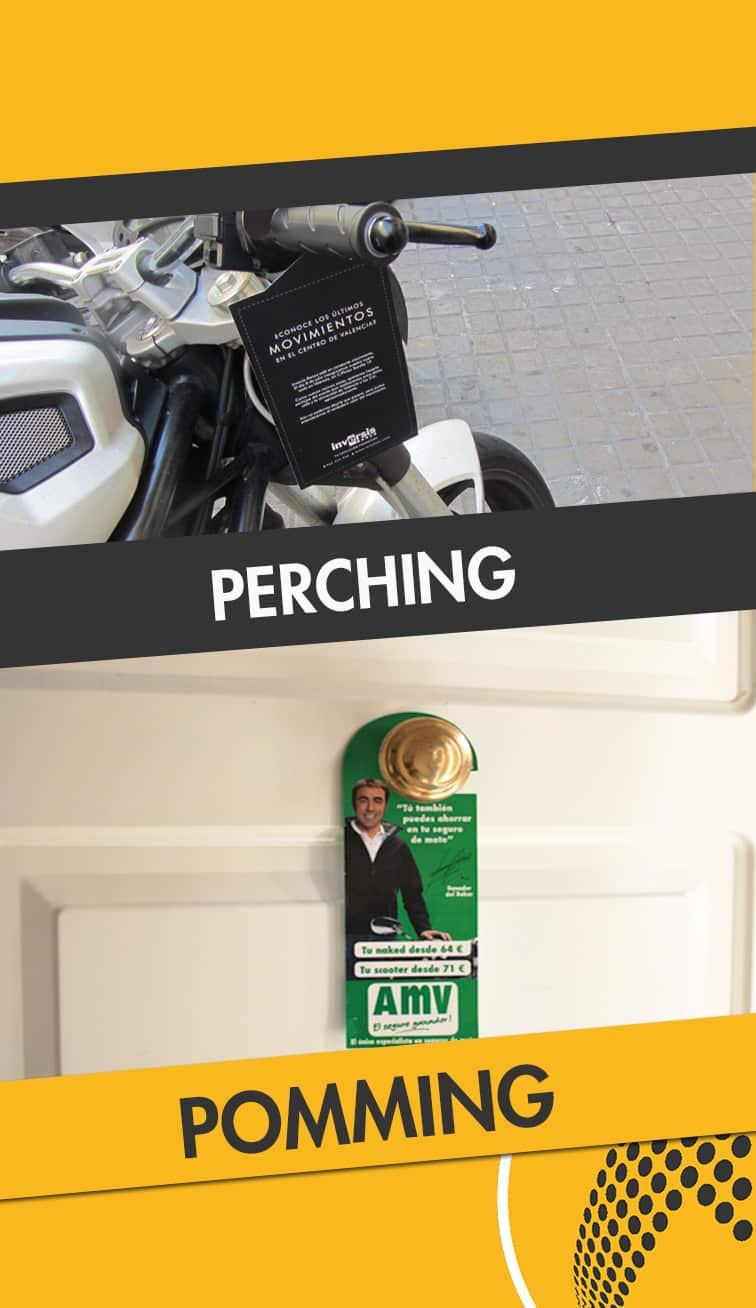 servicios de perching y poming Teruel