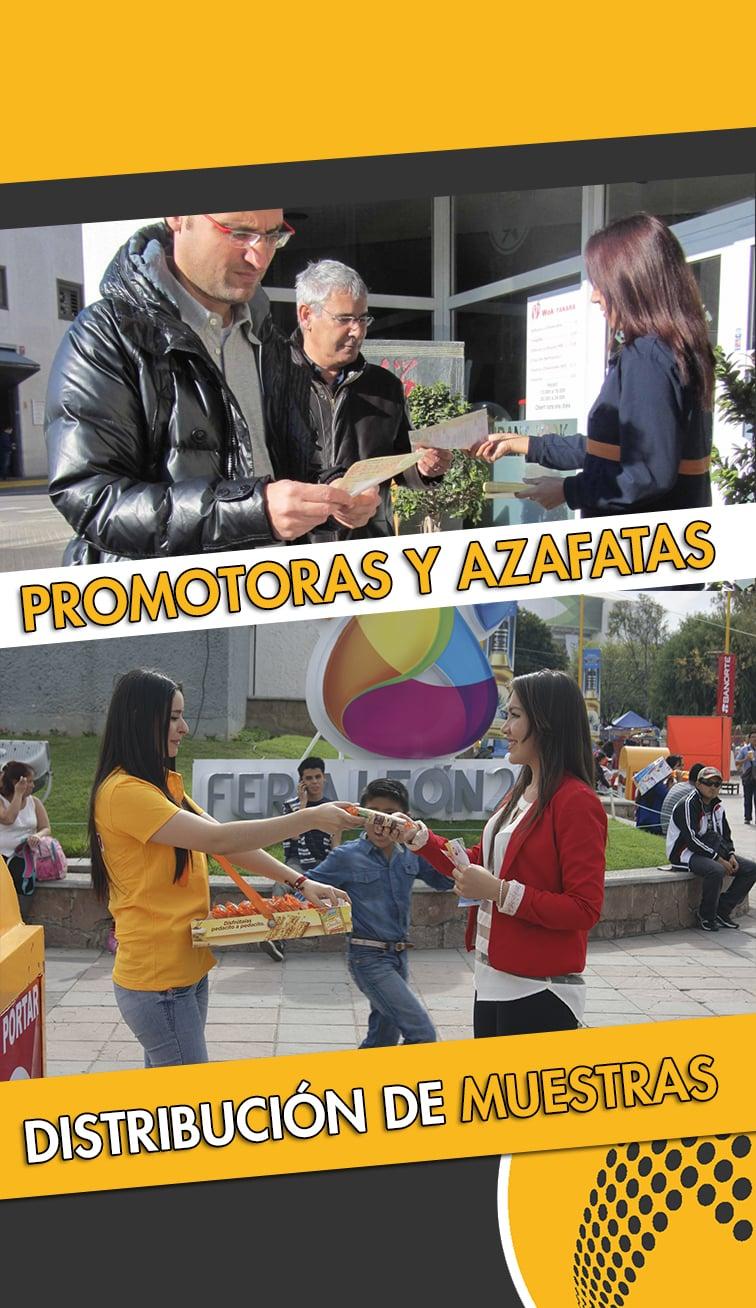servicios de promotoras, azafatas y reparto de muestras Teruel